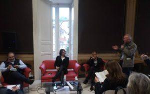 Un momento dell'incontro a Palazzo Nicotera