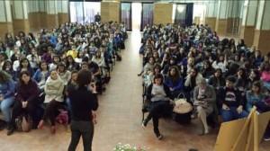 Un momento dell'incontro con gli studenti del Liceo Campanella