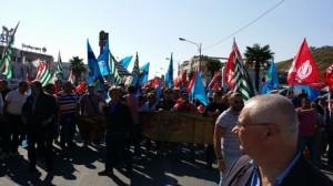 Manifestazione lavoratori in mobilità in deroga a Catanzaro