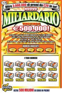 A Reggio Calabria trentenne vince 500 mila euro con Gratta e Vinci