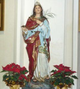 Statua Santa Lucia Platania