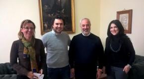 Lo chef calabrese Luigi Ferraro incontra Klaus Algieri in visita alla Camera di Commercio di Cosenza