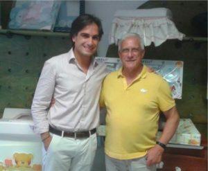 Tiberio Bentivoglio con il sindaco di Reggio Calabria