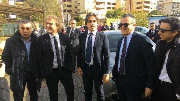 Luca Lotti visita cantiere Palazzo di giustizia a Reggio Calabria