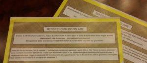Referendum trivelle scheda per Si