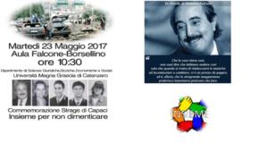 """Umg, """"Insieme per non dimenticare"""" martedi 23 maggio iniziativa in ricorrenza della strage di Capaci"""