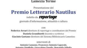 """Il primo giugno il """"Premio Letterario Nautilus"""""""