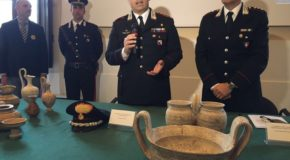 """Recuperati 3000 reperti archeologici. Comandante Nucleo: """"Criminalità organizzata interessata a settore"""""""