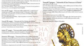 Dal 23 maggio al 2 giugno festeggiamenti in onore di San Francesco di Paola