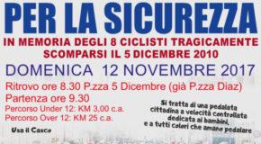 """Domenica 12 la """"Pedalata per la Sicurezza"""". Giovanni Andricciola: """"Ricordare gli 8 ciclisti e sensibilizzare tutti alla guida corretta"""""""