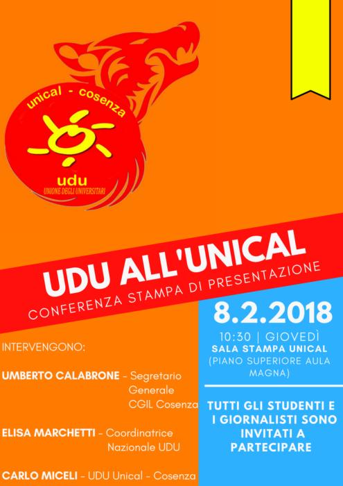 Nasce l Unione degli Universitari Unical. L 8 febbraio la ... 9a7b4c271482